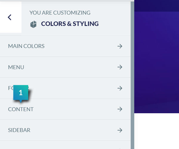 Colors & Styling - Content