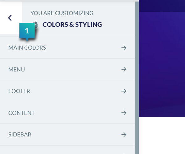 Colors & Styling - Main Colors
