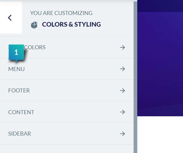 Colors & Styling - Menu