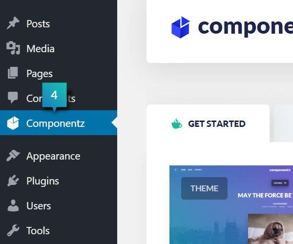 componentz Control Panel