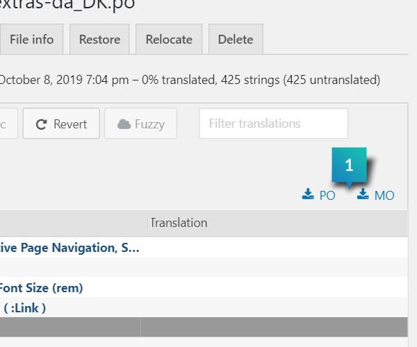 Generate Language Files