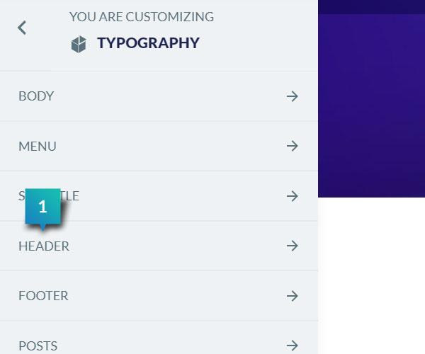 Typography - Header