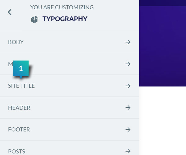 Typography - Site Title