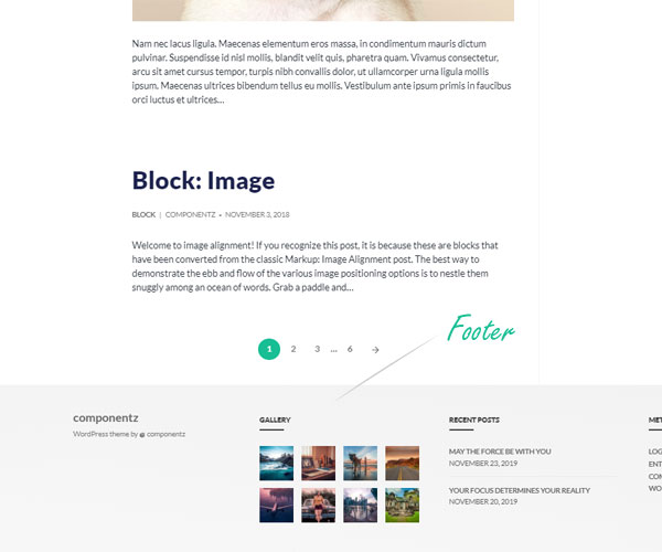 Colors & Styling - Footer