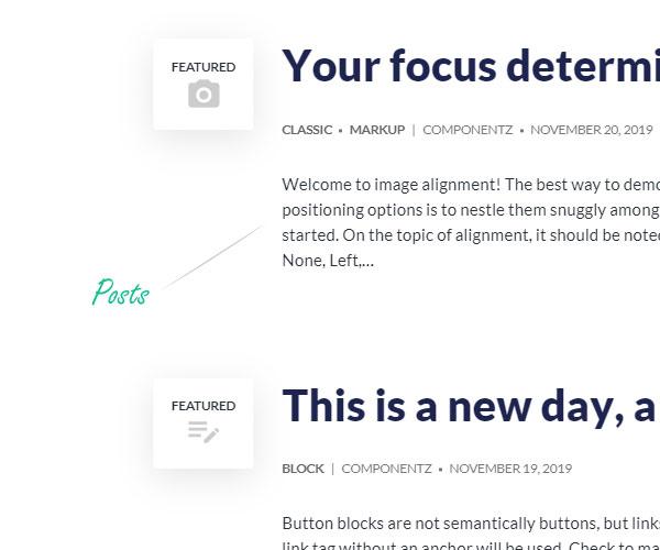 Typography - Posts